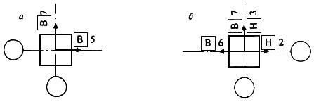 Примеры указания действительных отклонений свай и колонн